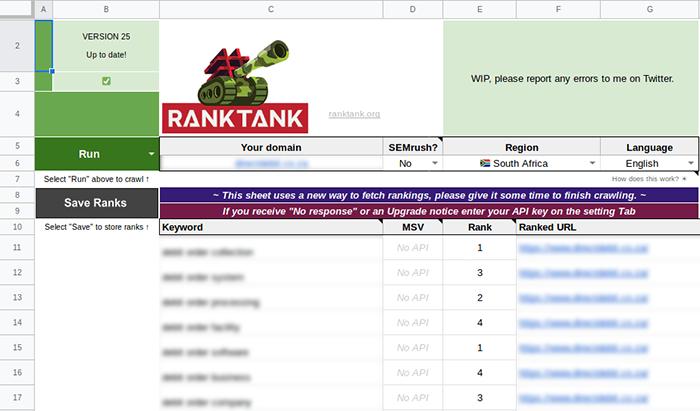 Getting Started [RankTank Documentation]